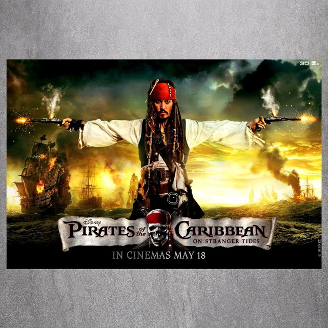 Pirates Of The Caribbean Canvas Art Print Painting Poster Wall