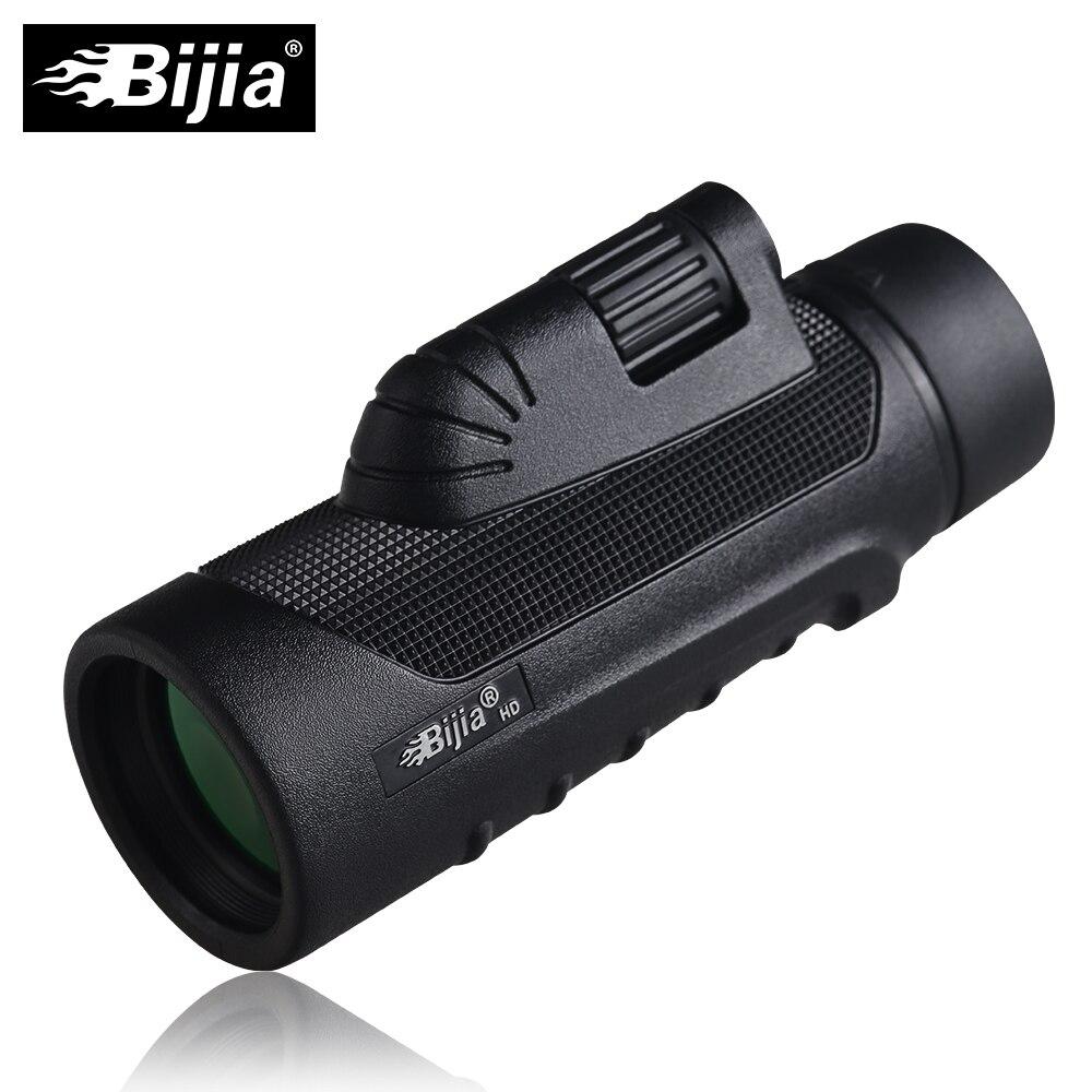 BIJIA 10x42 Monocular de alta calidad visión telescopio para la caza de alta potencia Monocular con BaK4 Prisma