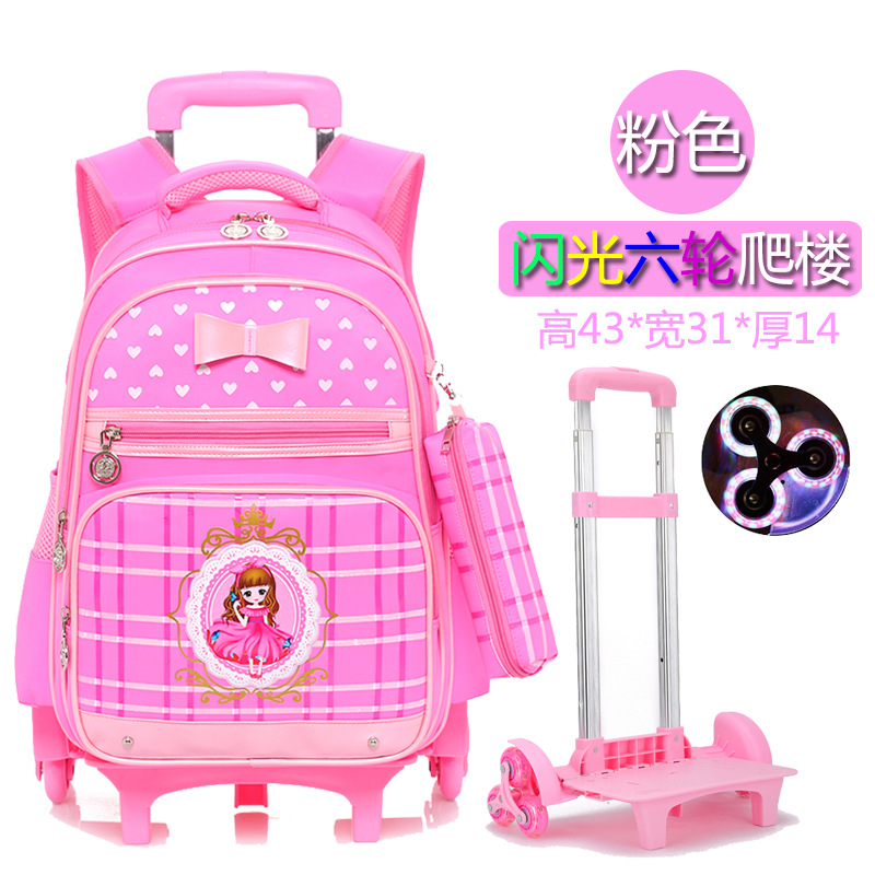 Hot Sales Removable Children School Bags with 2/3 Wheels for Girls boys Trolley Backpack Kids Wheeled Bag Bookbag travel luggage 2018 rick and morty backpack for children bookbag boys girls school bag