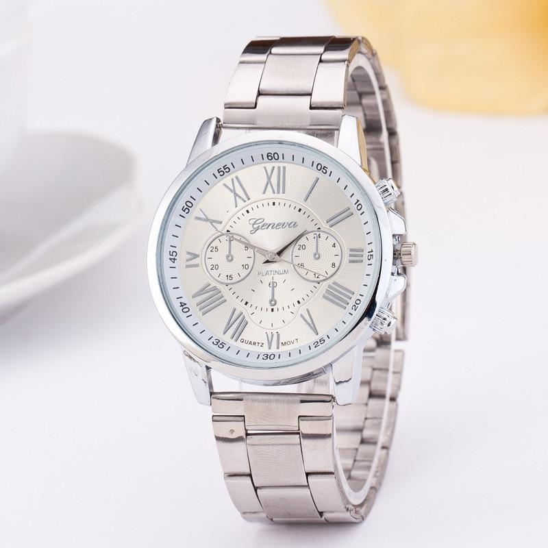 2017 Women Silver Watches Fashion Geneva Watches Ladies Casual Wrist Watch Quartz Watch Relogios Feminino Dames