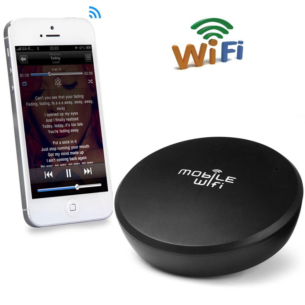 100 original mini link wr001 wifi audio music receiver portable wireless sound system music. Black Bedroom Furniture Sets. Home Design Ideas