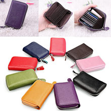 New 1Pc Mens Womens Leather Mini Slim Wallet ID Credit Card Holder Case Organizer Purse(China)