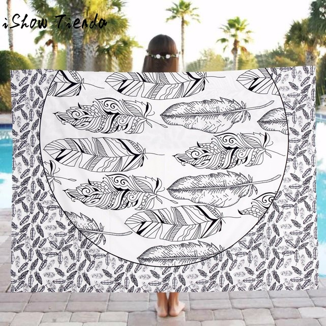 1 PC Hot Sale Beach Pool Home Shower Polyester Towel Blanket Table Cloth Yoga Mat Home Decor Purposes