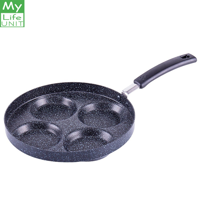 MYLIFEUNIT Aluminum 4-Cup Egg Frying Pan Non Stick Egg Cooker Pan Kitchen supplies