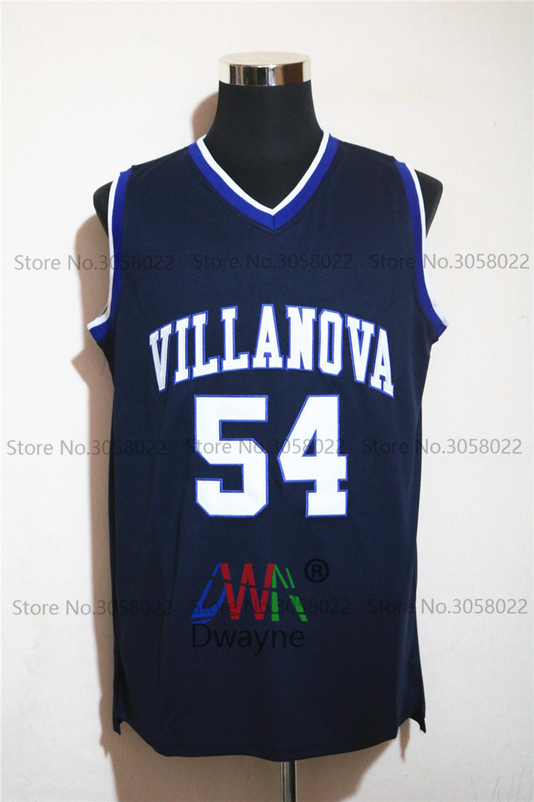 ... 2017 men dwayne cheap throwback basketball jersey ed pinckney 54  villanova wildcats jersey vintage navy blue de30ae8ad