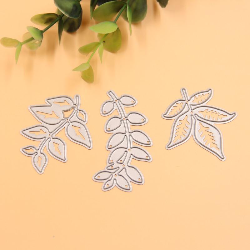 monstera leaf cutting die stencil diy paper card flower swan metal