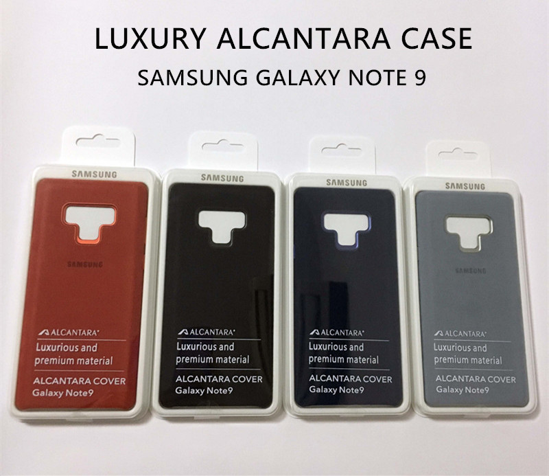 sports shoes 7bf5e c2ef2 US $15.85 39% OFF|Original Official Samsung Galaxy Note 9 Luxury Leather  Alcantara Case Suede Full protection Phone Cover SM N9600 Anti full-in Flip  ...