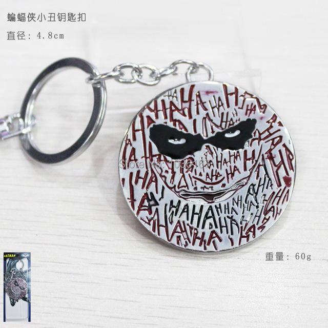 New Arrival DC Comics Superhero Key Chain Batman Joker Logo Keychain Pendant Metal Figure Toys Movie Jewelry