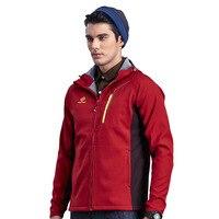 TECTOP New Winter Men's Waterproof Soft Shell Jackets Outdoor Sport Hiking Camping Ski Inside Fleece Thermal Coats