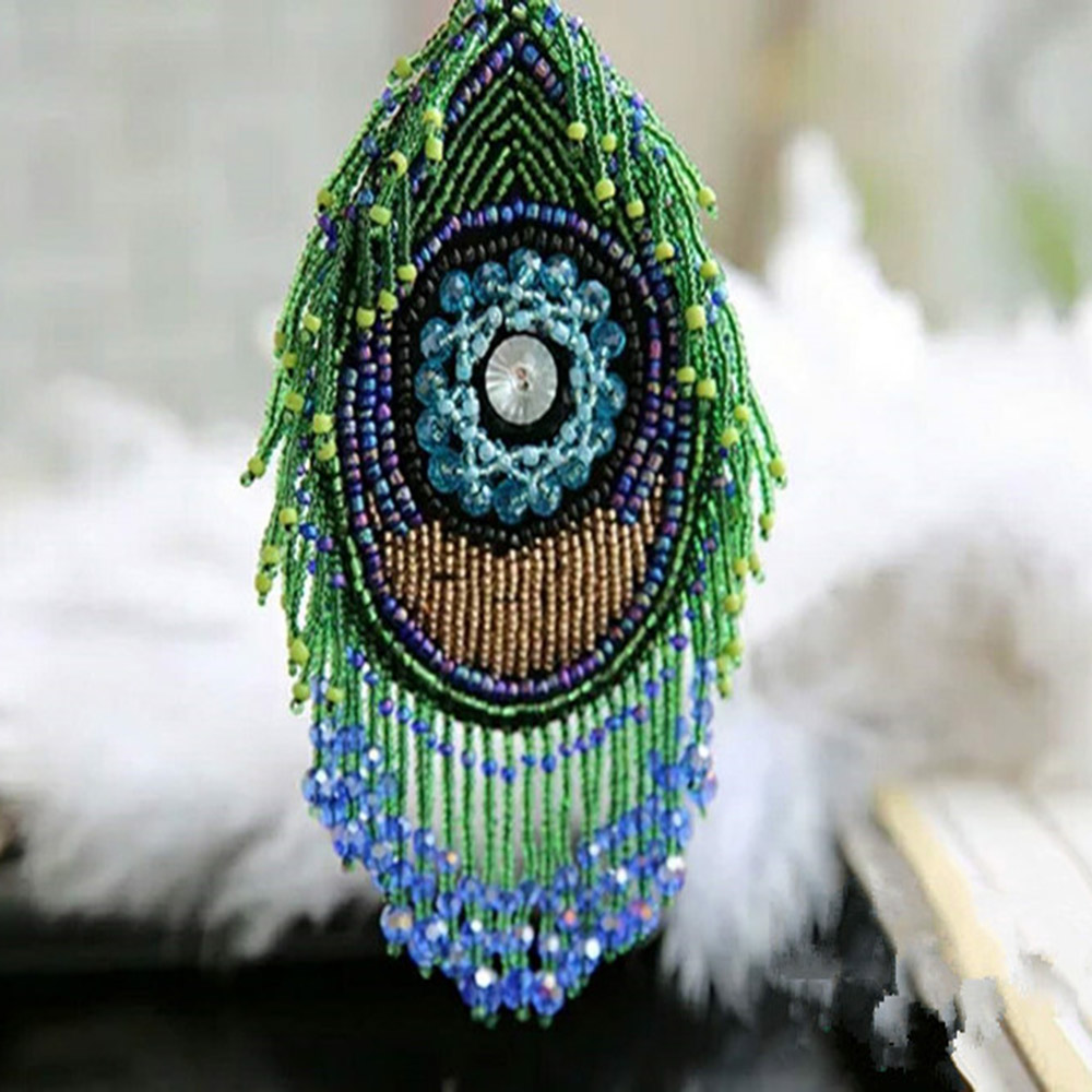 1pieces Handmade Special Beaded Eye Eyelash Design