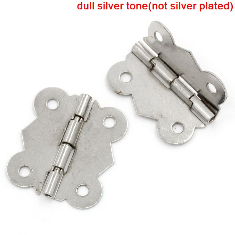 Door Butt Hinges(rotated from 90 degrees to 210 degrees)Silver Tone 4 Holes 3cm x 2.6cm,30PCs 2016 new style me up style me up набор для создания украшений браслеты мечты