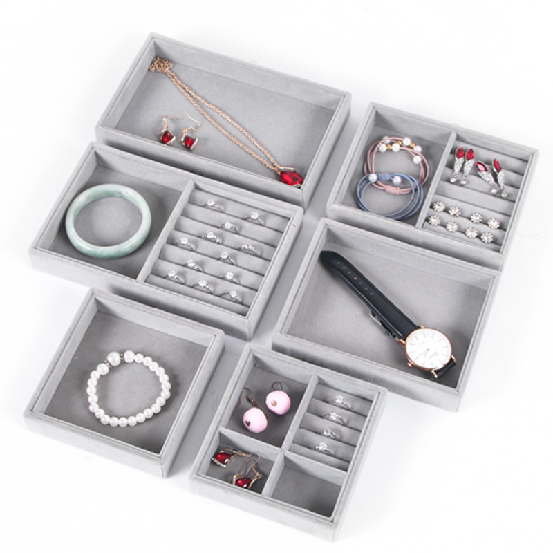 New Arrival Small Jewelry Tray Ring Necklace Storage Organizer Bracelet Watch Display Drawer Stuff Finishing Multi-functional