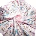 Хорошее Дело Женская Мода Розовый Большой Размер 90 х 90 см Мягкая Подражали Шелковый Шарф Шаль Высокого Качества Подарок 1 ШТ.