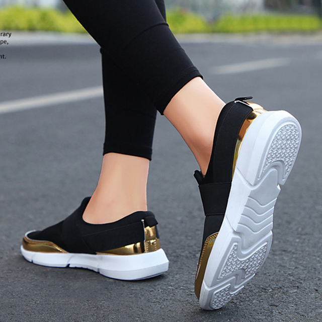 Spring Autumn Women Slip On Loafers Ladies Casual Comfortable Flats Female Breathable Stretch Cloth Shoes Fashion Zapatillas 2