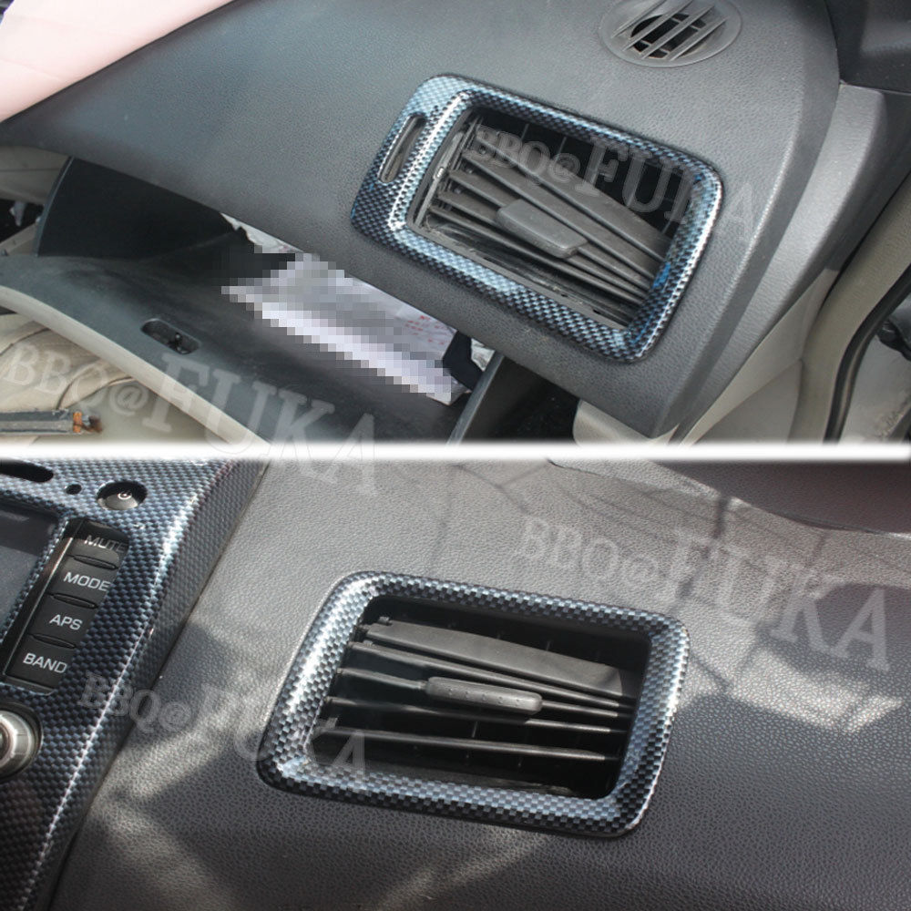 ABS Carbon Fiber Front Side Air Vent Outlet Cover Trim For Honda Civic 2004 2005 2006 2007 2008 2009 Accessories Car Styling