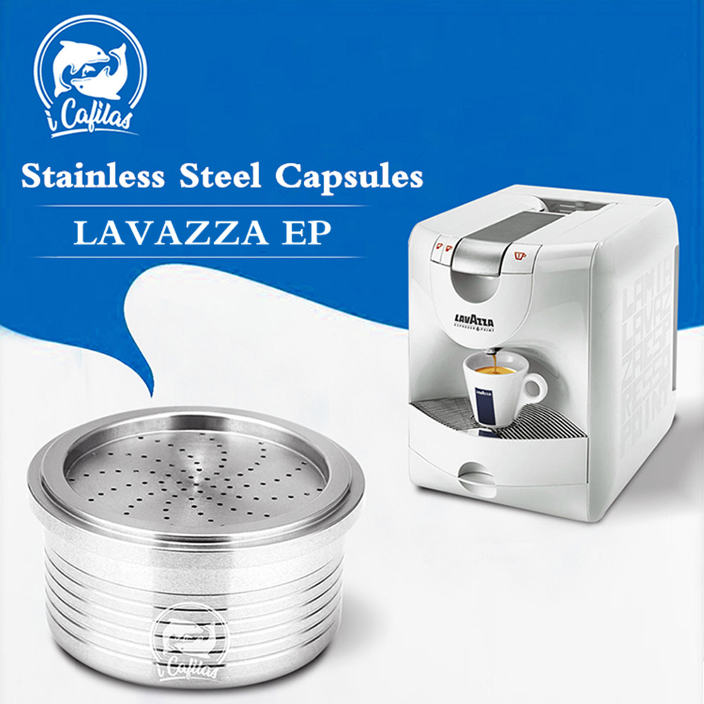 Lavazza EP Crema Coffee Filters Stainless Steel Reusable Coffee Capsule Pod Cup Tea Brackets Refillable Lavazza Coffee Dripper
