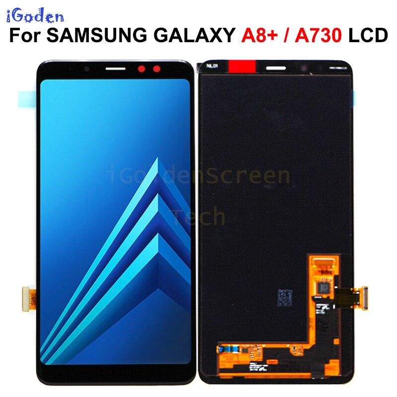 Super AMOLED do SAMSUNG GALAXY A8 + 2018 A730 wyświetlacz LCD ekran dotykowy wymiana Digitizer zgromadzenie dla SAMSUNG A730 LCD w Ekrany LCD do tel. komórkowych od Telefony komórkowe i telekomunikacja na AliExpress - 11.11_Double 11Singles' Day 1