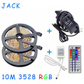 10m 3528 RGB Led Strip Light SMD 5M 300Leds SMD Flexible Strips + 44 key ir Remote Controller +DC 5A 12V transformer