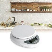 5000 г/1 г 5 кг кухонные весы Еда Диеты Почтовый Кухня цифровой Весы весы баланс веса взвешивание светодиодные электронный