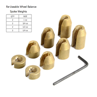 Reusable Motorcycle Wheel Balance Weights For Spoke Wheels BMW Harley Super Moto Vintage metric cruiser wheels
