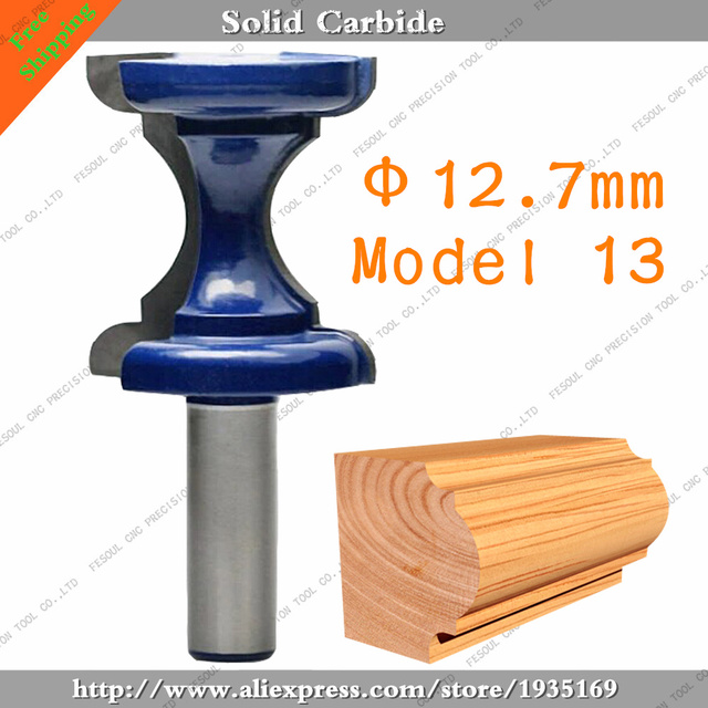 12.7mm,1pcs,Free Shipping CNC Engraving Woodworking Milling Cutter,Solid  Carbide End