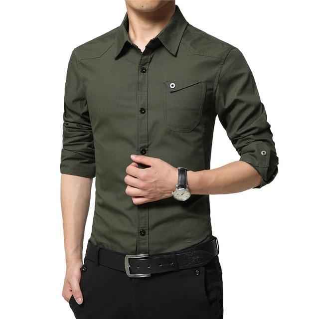7e198764d 2016 New Arrival Men Shirt Long Sleeve Shirts Men Brand Quality Casual  Shirts Boy Slim Fit