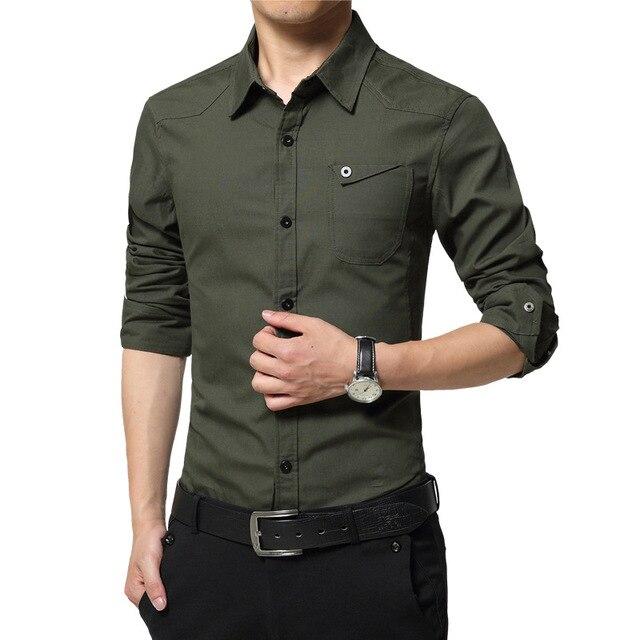 2016 nueva llegada camisa de los hombres camisas de manga larga de los hombres de la marca de calidad camisas casual boy slim fit hombre clothing diseño de moda