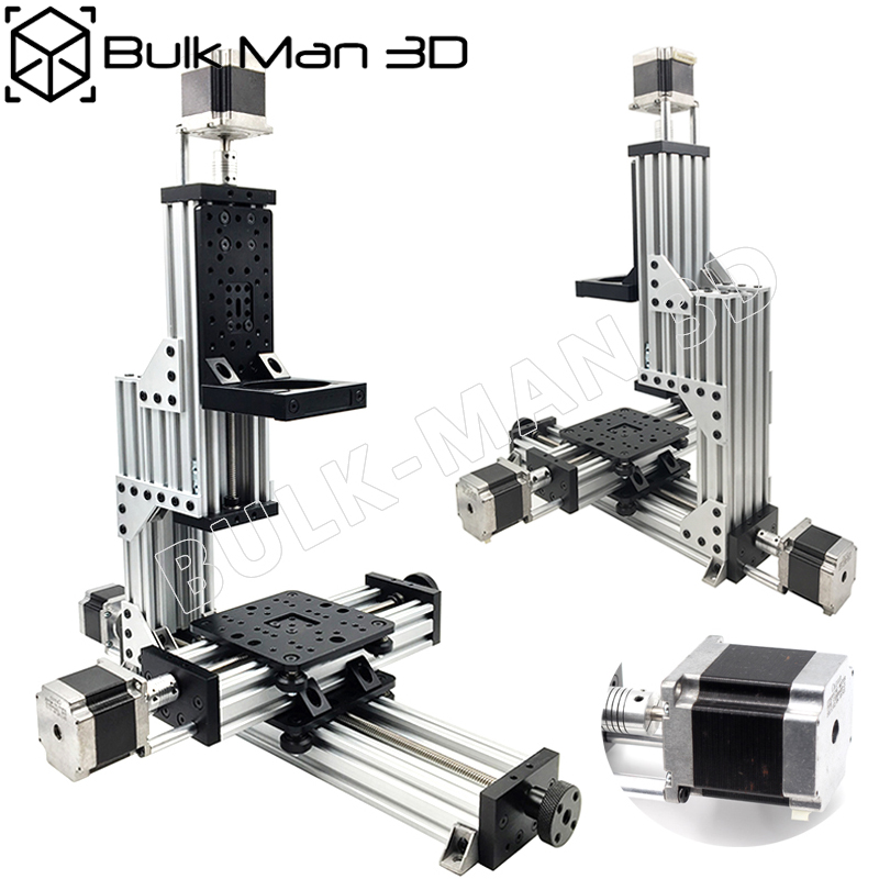 Free Shipping MiniMill CNC Machine Mechanical Kit 3 Axis Desktop MiniMill CNC Kit With 175 Oz*in Nema 23 Stepper Motors