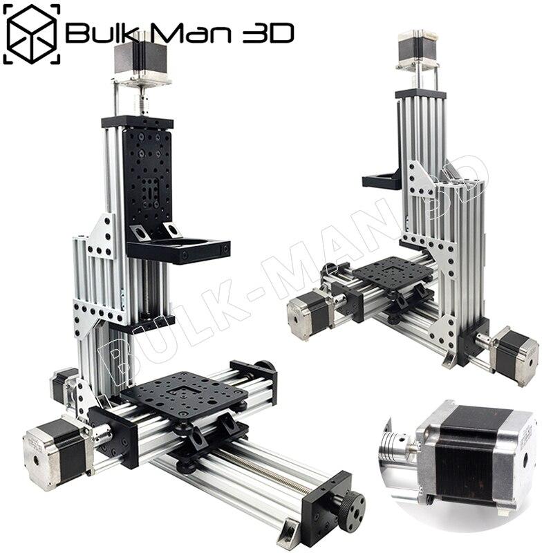 Livraison gratuite MiniMill CNC Machine Kit mécanique 3 axes bureau MiniMill CNC Kit avec 175 oz * dans Nema 23 moteurs pas à pas