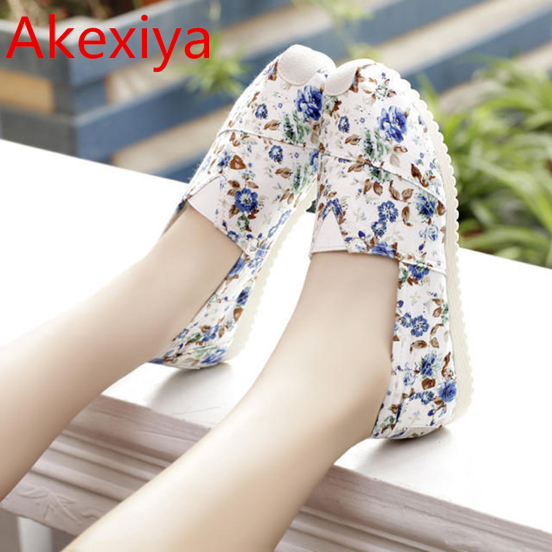 Akexiya New 2017 Fashion High Quality Lazy Shoes Women Flower Flat Shoe Women's Flats Womens Spring Summer Shoes Hot Sale new 2017 spring summer women shoes pointed toe high quality brand fashion womens flats ladies plus size 41 sweet flock t179