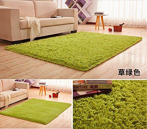 Super Soft Silk Wool Indoor Rug Tea Green