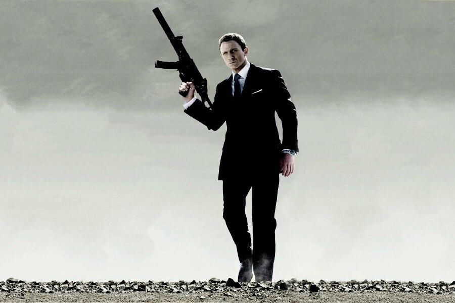 QUANTUM TROST 007 Bond Tuch Seide Kunst Wand Poster Und DruckeChina Mainland