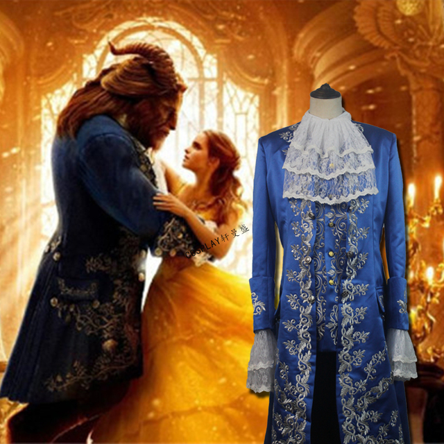 Beauty And The Beast Princess Belle Prince Adam Adult Halloween Uniform Suit Cosplay Costume