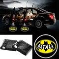 2 X Inalámbrico Puerta de Coche de Proyección LED Proyector Sombra de Batman Logo Imán Sensor Lámparas de luz de Bienvenida para Bmw Audi Ford Focus Kia
