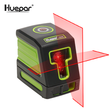 Huepar Self-leveling Vertical & Horizontal Lasers Red Beam Cross Line Laser Level Nivel Laser fukuda 3d 12 lines nivel laser red beam rotary laser level 360 self leveling cross line horizontal vertical laser leveler mw 93t