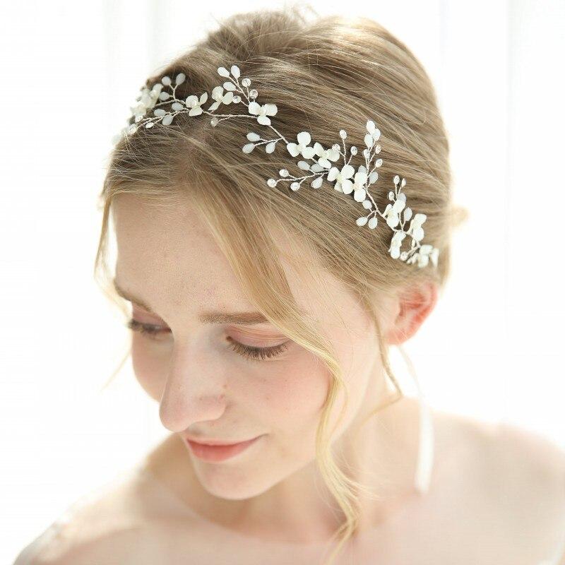 White Flower For Hair Wedding: Dower Me White Flower Bridal Hair Pins Set Handmade