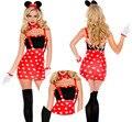 Горячая Микки одежды хэллоуин костюмы для женщин мисс Минни костюм причудливого платья love live косплей партии сексуальные роли костюм платье