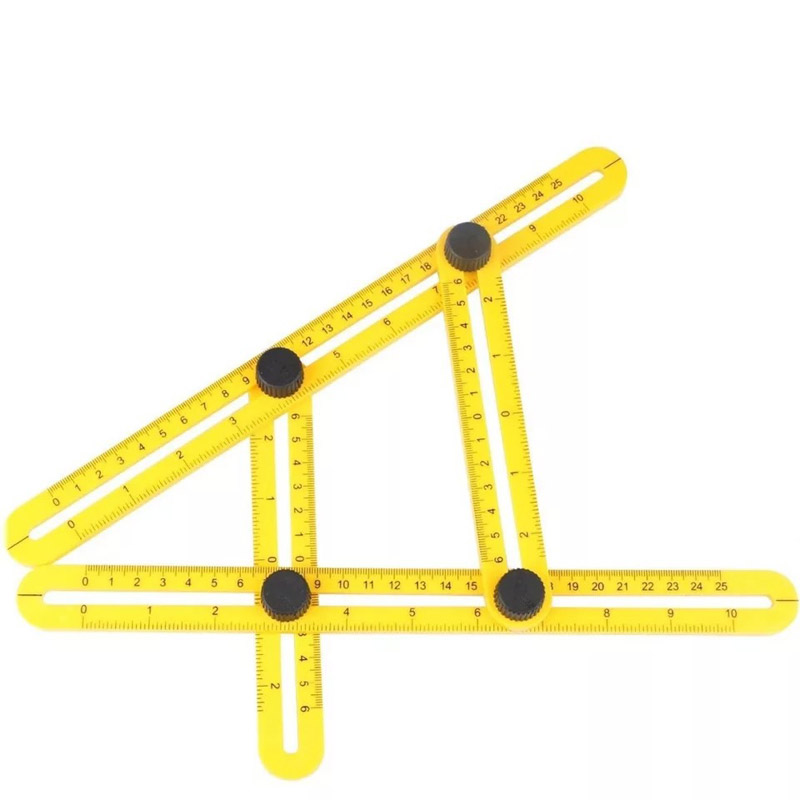 Multi Angle Ruler Teplate Tool Measures All Angle Multifunctional Four sided Folding Removable Muti angle Measuring Ruler
