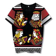 2018 estilo de verano hip hop camiseta hombres mujeres Barajas de cartas  imprimir camiseta Harajuku ropa camisa masculina tamaño. 08c65249977