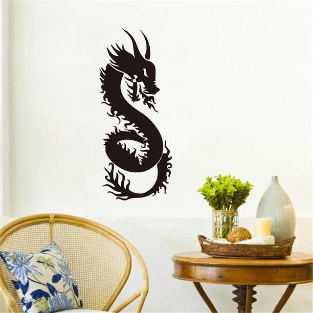 Chinese Dragon Wall Sticker Decor Wall Art Vinyl Mural Loong Art ...