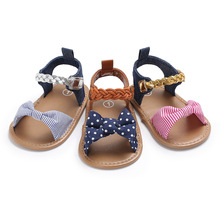 2019 New Soft Sole PU Baby girls Canvas bow First Walkers Shoes Fashion summer  walker toddler moccasins