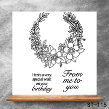 Give your blessing Transparent Clear Stamps DIY Scrapbooking Album Card Making Decoration Embossing Stencil