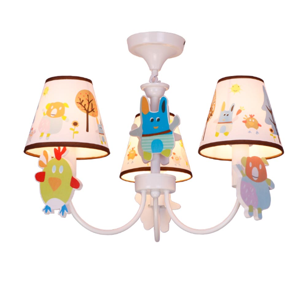 Suspension Chandelier Us 45 25 Off Kids 3 Lights Suspension Chandelier Luminaria Baby 110 220 E27 Children Room Lamps Home Lighting Contemporary Led Chandeliers In
