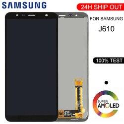 Do Samsung Galaxy J6 + J610 SM-J610F SM-J610FN wyświetlacz lcd wymiana ekranu dla Samsung J6 + SM-J610F lcd moduł wyświetlacza