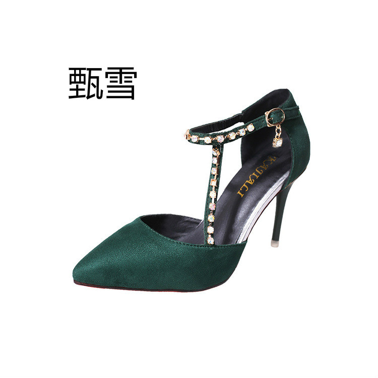 2017 Spring And Summer Fashion Shoes All-match Pointed With Fine Color all summer long