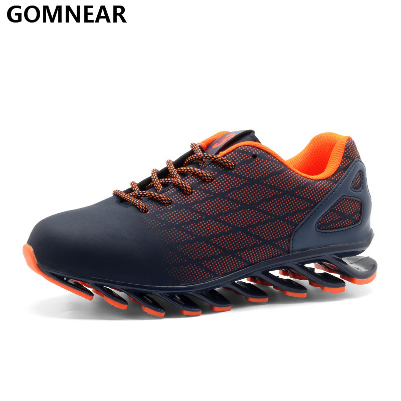 GOMNEAR Autumn Sneakers For Men Running Shoes Sports Outdoor Antiskid Jogging Tourism Walking Athletic Shoes Black Running Shoes недорого