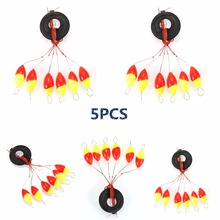 JOSHNESE Brand 5PCS 6 in 1 Cylinder Fishing Stopper Fishing Tackle Water Floats Bobbers Hign Quality