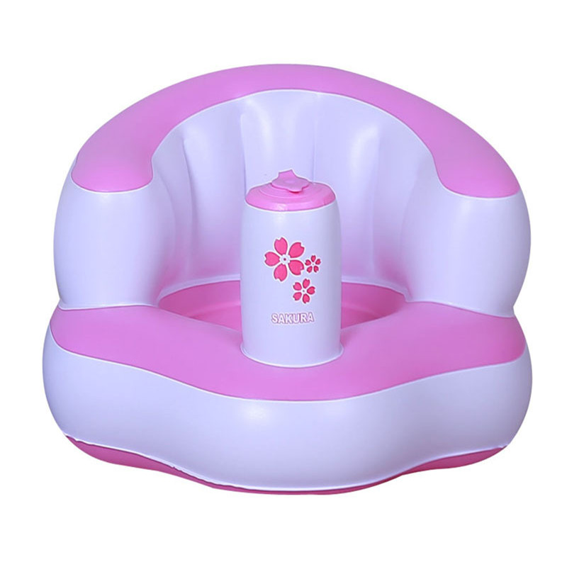 Bath Seat Child Sofa Chair Seat Inflatable Baby Kid Children Bathroom  Stools 3 Colors Baby Learn Small Inflatable Portable Chair