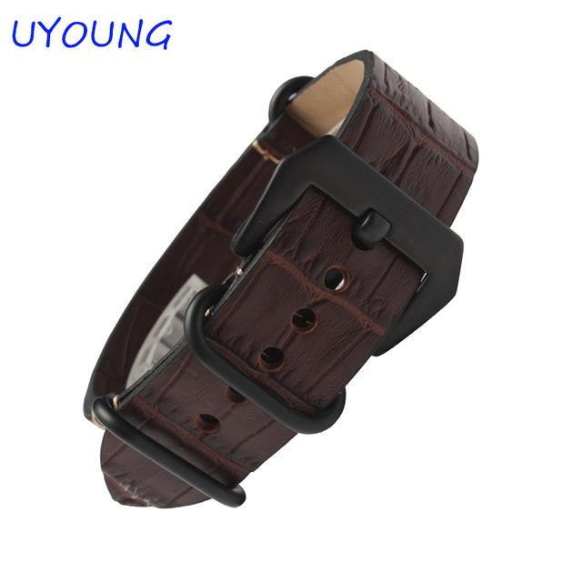 Couro genuíno faixa de Relógio 22mm 24mm Longo Mens Pulseira de Couro Casual Assista Strap Para Panerai
