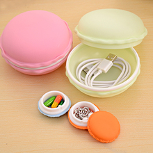 Macaron Storage Case Change Beads Jewelry Carrier Holder Box Electronic Accessories Digital Gadget Devices Portable Headset Bag